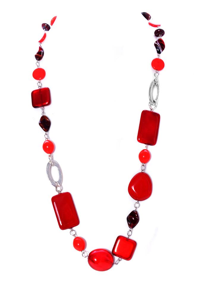 Bižuterie - červený náhrdelník. Arcon Bijoux. 923225ff065