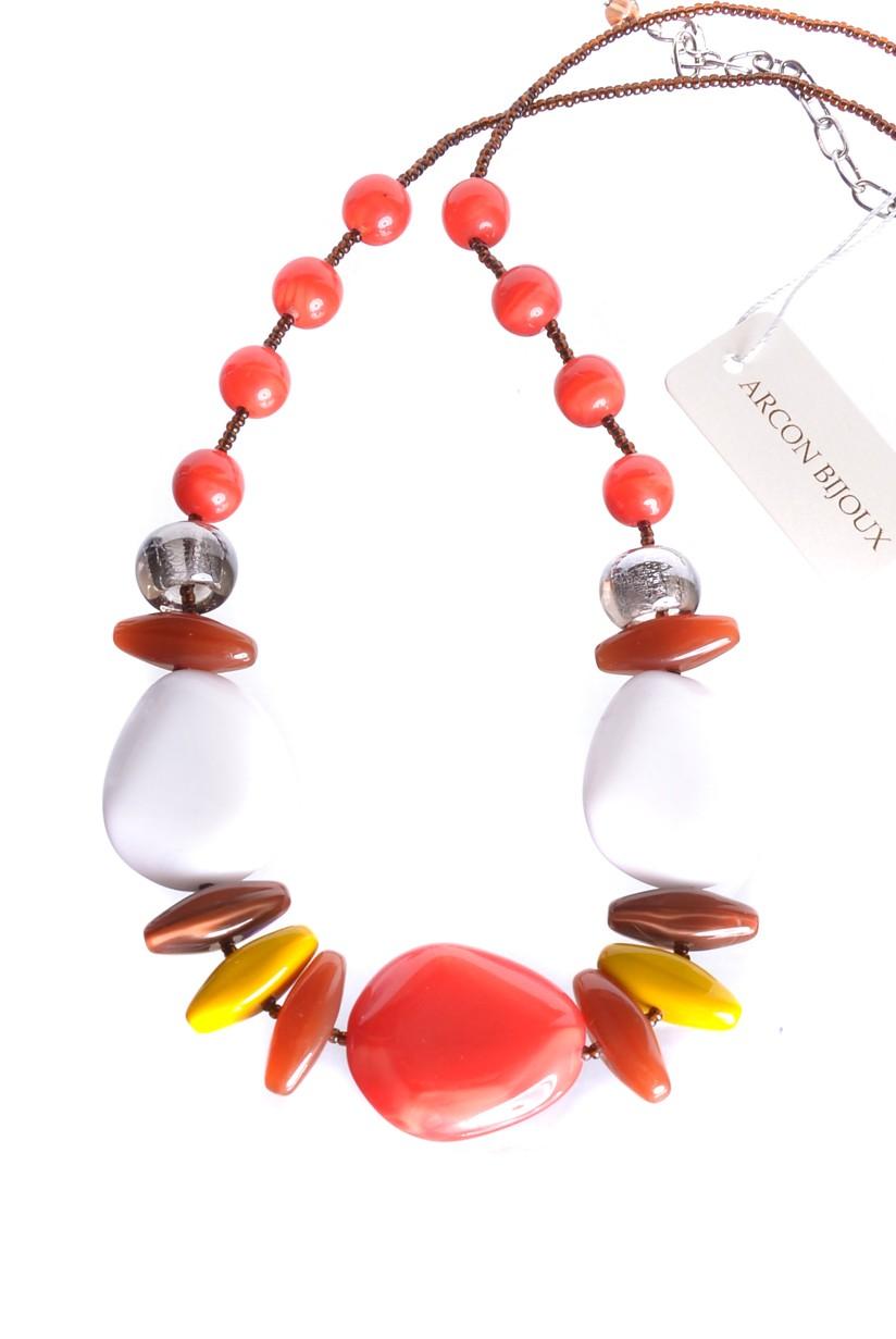 Jablonecká bižuterie - červený náhrdelník ze skleněných perlí. Arcon ... 25718aa7dab
