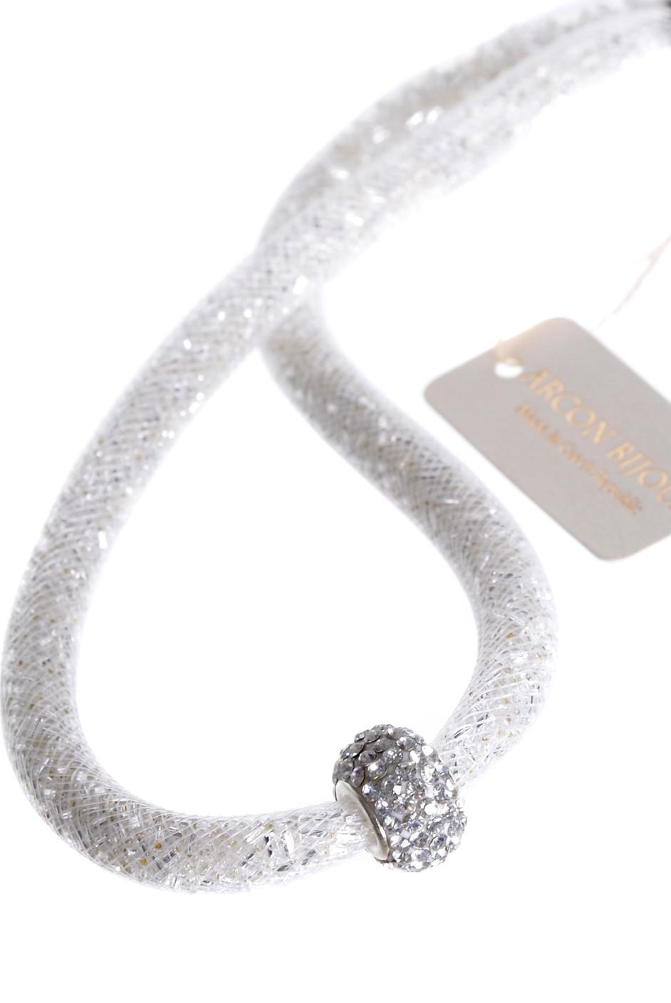 a07122167 Jablonecká bižuterie -bílý náhrdelník z dutinky DUT/H022 ...