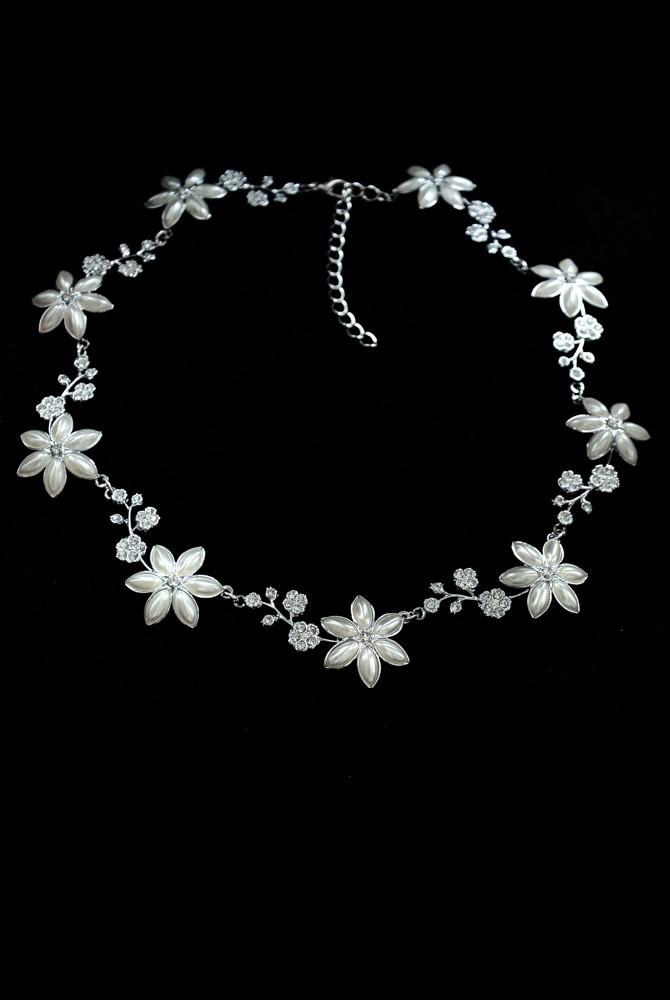 fead8ab18 Svatební náhrdelník - květinový. 004221BV - Arconbijoux.cz